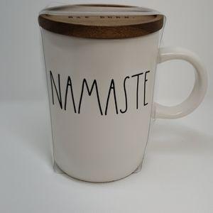 Rae Dunn Namaste Coffee Mug w/ Lid Coaster